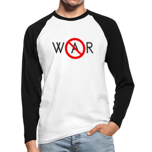 TIAN GREEN - No War - Männer Baseballshirt langarm