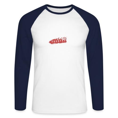 Blacklist Records - T-Shirt (Logo Blanc) - T-shirt baseball manches longues Homme