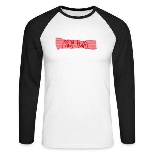 abderyckie linie - Koszulka męska bejsbolowa z długim rękawem