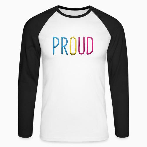 Proud Pansexual - Men's Long Sleeve Baseball T-Shirt