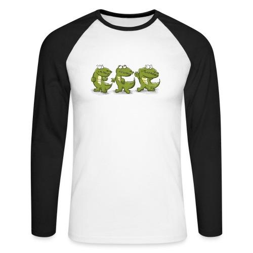 Nice krokodile - Männer Baseballshirt langarm