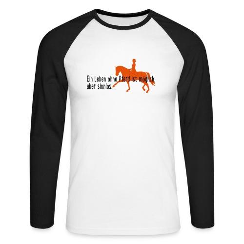 Pferd - Männer Baseballshirt langarm