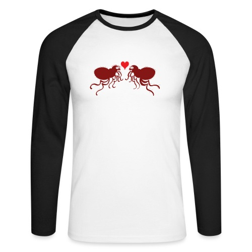 Ugly fleas madly falling in love - Men's Long Sleeve Baseball T-Shirt