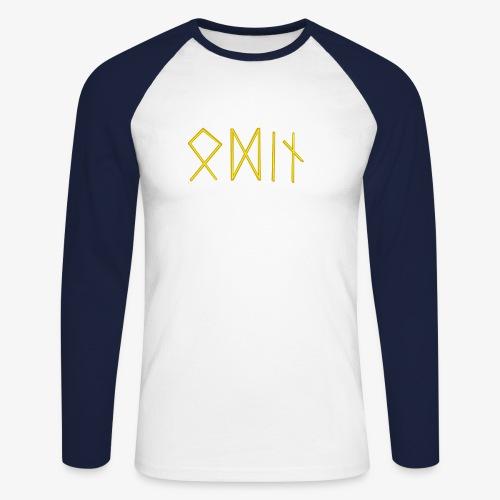 Odin in Runen - Männer Baseballshirt langarm