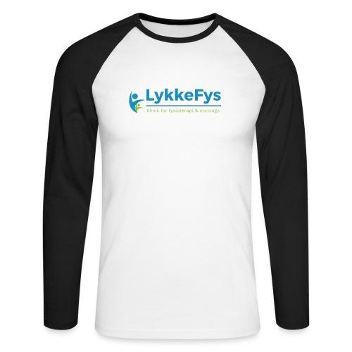Lykkefys Esbjerg - Langærmet herre-baseballshirt