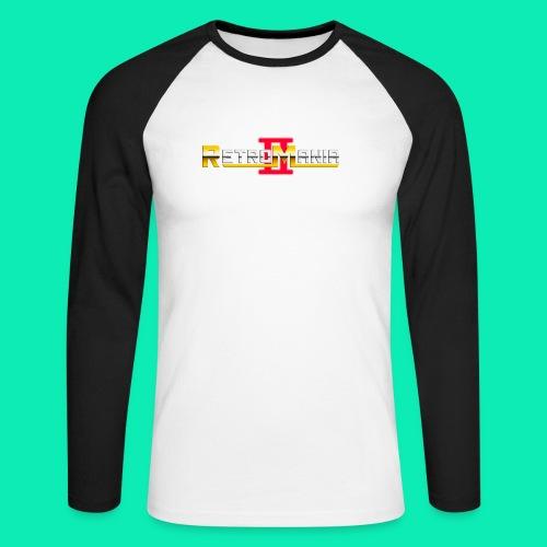 Retro Mania II - Logo - Männer Baseballshirt langarm