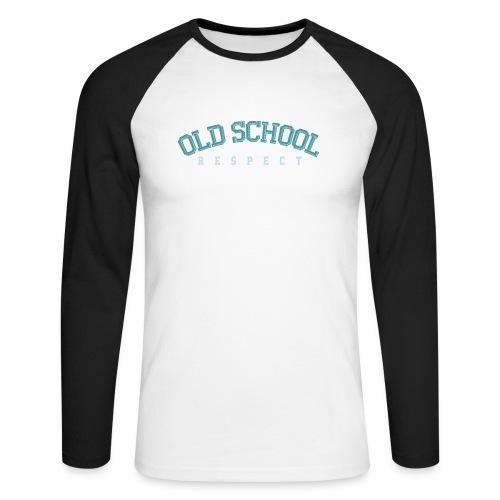 Old School Respect 02 - Mannen baseballshirt lange mouw
