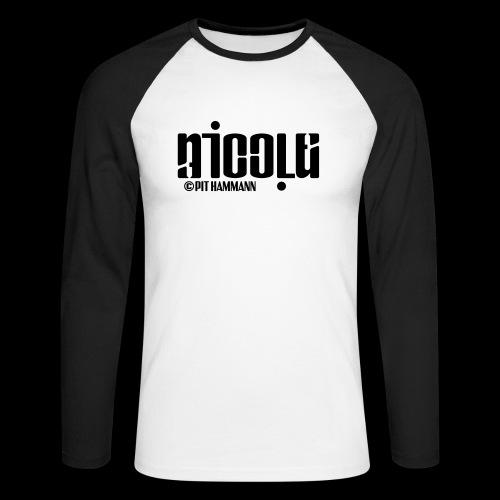Ambigramm Nicole 01 Pit Hammann - Männer Baseballshirt langarm