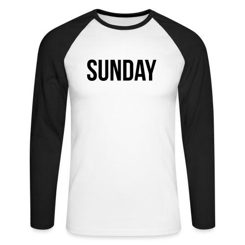Sunday - Men's Long Sleeve Baseball T-Shirt