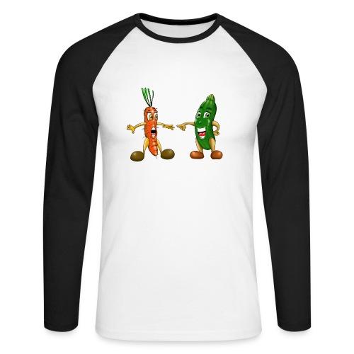 Les légumes du bébé et des végans - T-shirt baseball manches longues Homme