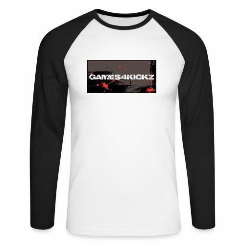 Games4Kickz Logo 004 - Men's Long Sleeve Baseball T-Shirt