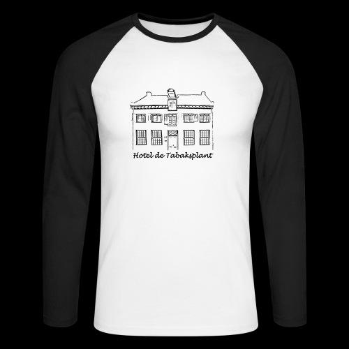 Hotel de Tabaksplant (zwart) - Mannen baseballshirt lange mouw