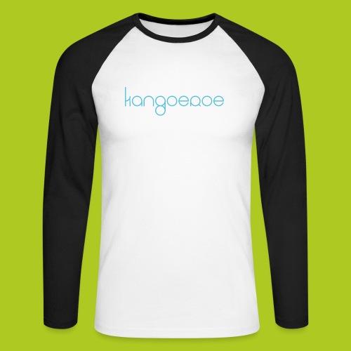 blue kangoeroe design - T-shirt baseball manches longues Homme