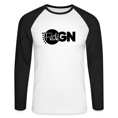 Logo FédéGN pantone - T-shirt baseball manches longues Homme
