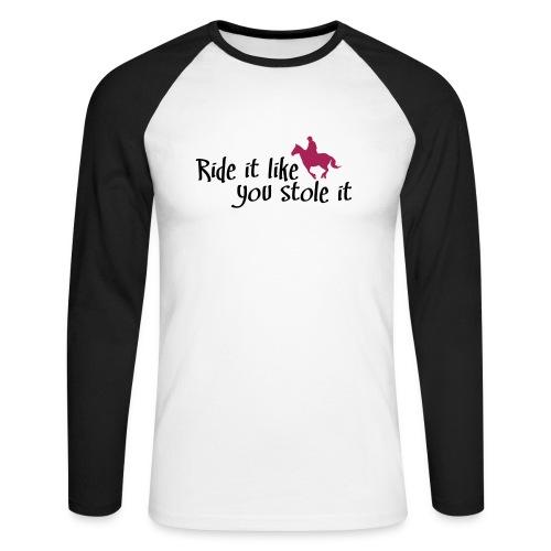 reiten - Männer Baseballshirt langarm