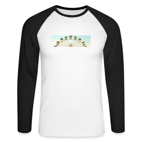 header_image_cream - Men's Long Sleeve Baseball T-Shirt