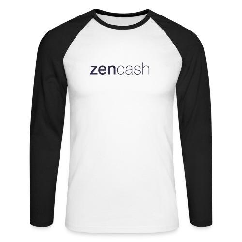 ZenCash CMYK_Horiz - Full - Men's Long Sleeve Baseball T-Shirt