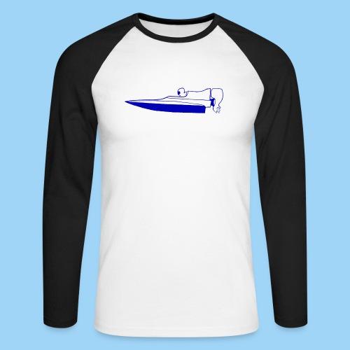 Powerboat GT30/GT15 Blue flip - Långärmad basebolltröja herr