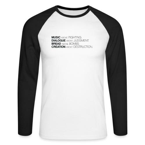 slogan png - Mannen baseballshirt lange mouw