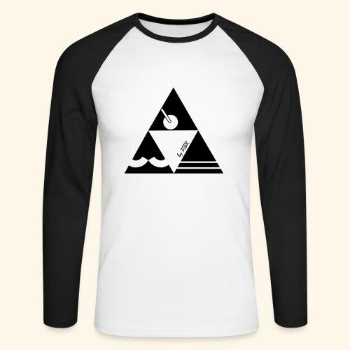 TRI-ANGLE BLACK & WHITE by 3SBR - T-shirt baseball manches longues Homme
