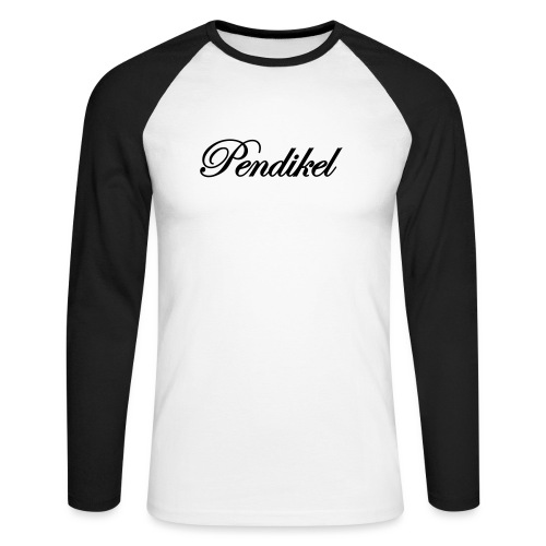 Pendikel Schriftzug (offiziell) Buttons & - Männer Baseballshirt langarm