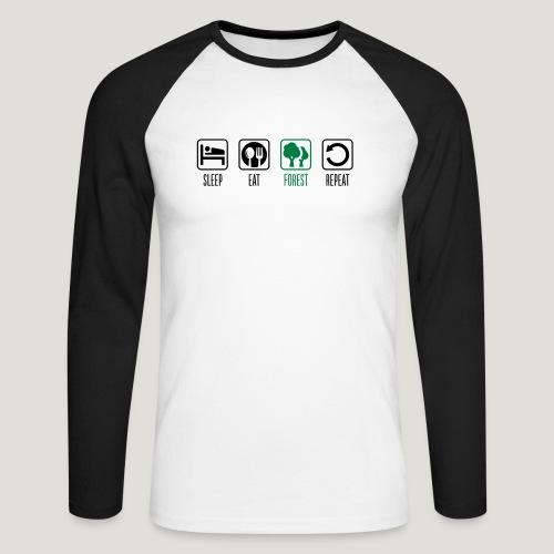 Sleep Eat Forest Repeat - Männer Baseballshirt langarm