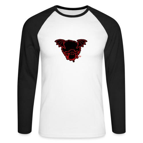 Vampire Sheep (red) - Men's Long Sleeve Baseball T-Shirt