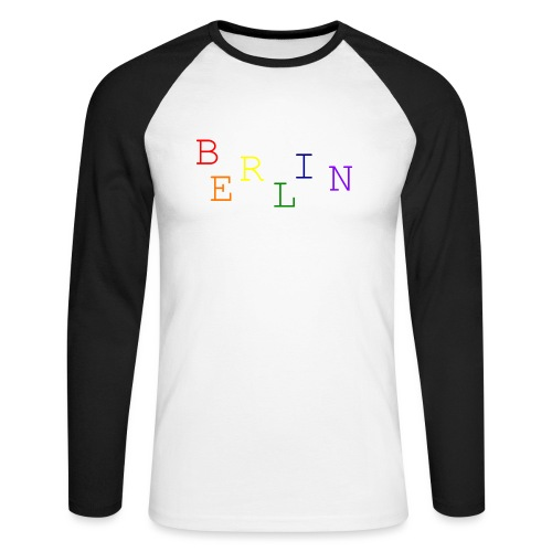 Berlin Rainbow #1 - Männer Baseballshirt langarm