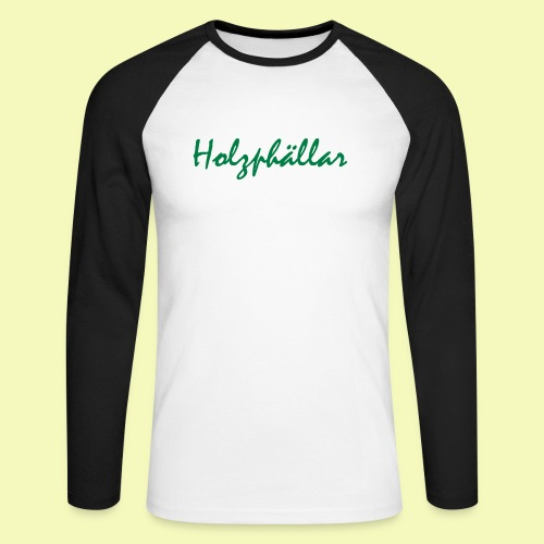 Schriftzug Grün - Männer Baseballshirt langarm