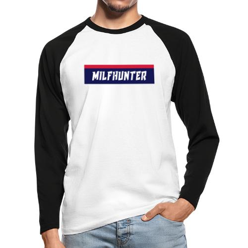 MILFHUNTER Premium Logo - Männer Baseballshirt langarm