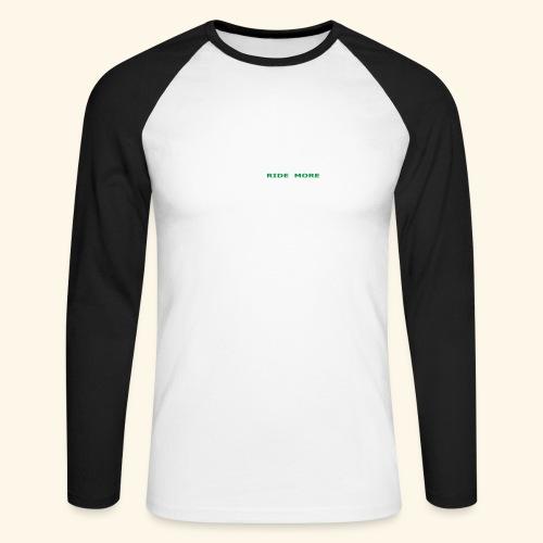 WLRM Schriftzug white png - Männer Baseballshirt langarm