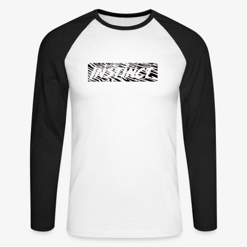 Instinct ZEBRA Design - Männer Baseballshirt langarm