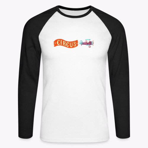 Circus Airplane - Men's Long Sleeve Baseball T-Shirt