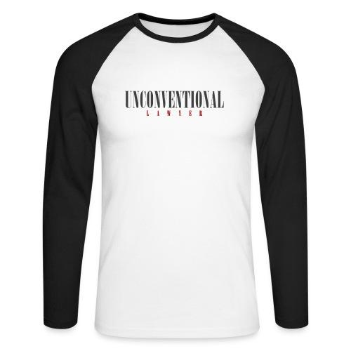 Unconventional Lawyer - T-shirt per avvocati (men) - Men's Long Sleeve Baseball T-Shirt