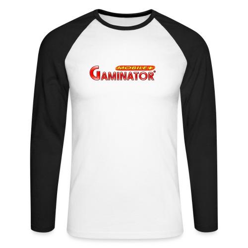 Gaminator logo - Men's Long Sleeve Baseball T-Shirt