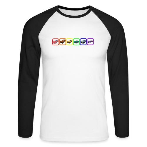 Rainbow Cars - Men's Long Sleeve Baseball T-Shirt
