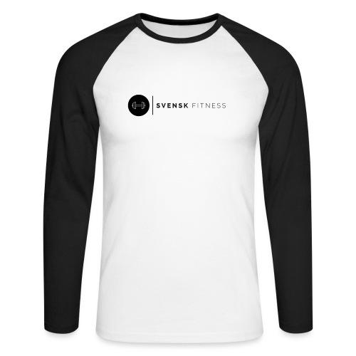 Svart logo vertikal dam - Långärmad basebolltröja herr
