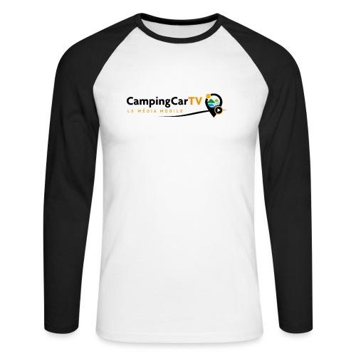 LOGO CCTV - T-shirt baseball manches longues Homme