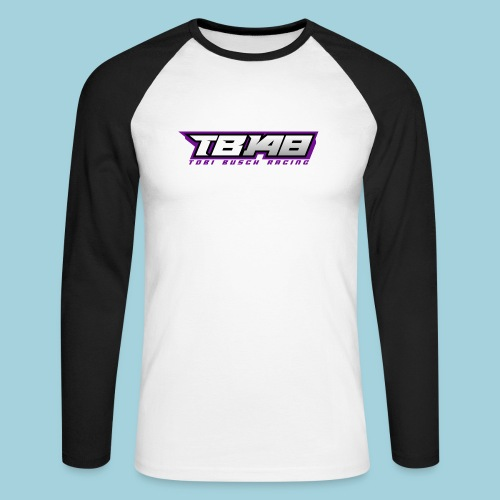 Tob Logo Lila - Männer Baseballshirt langarm