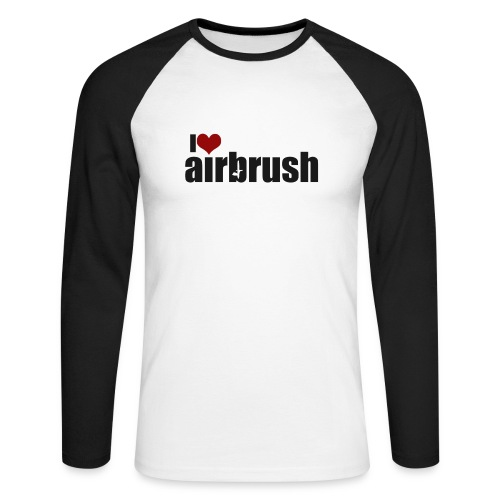 I Love airbrush - Männer Baseballshirt langarm