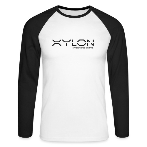 Xylon Handcrafted Guitars (plain logo in black) - Men's Long Sleeve Baseball T-Shirt