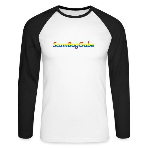 ScumBagGabe Multi Logo XL - Men's Long Sleeve Baseball T-Shirt
