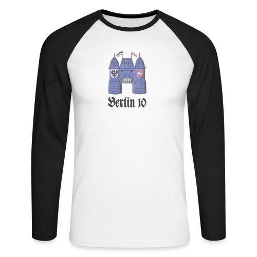 berlin10_wappen_dunkel - Männer Baseballshirt langarm