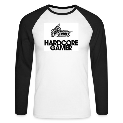 harcdoreblack - Maglia da baseball a manica lunga da uomo