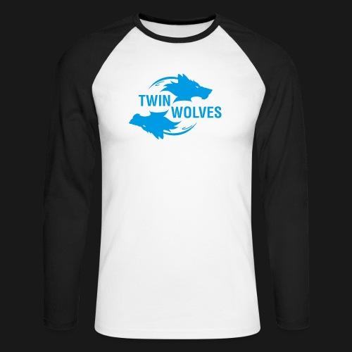 Twin Wolves Studio - Maglia da baseball a manica lunga da uomo