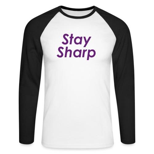 Stay Sharp - Maglia da baseball a manica lunga da uomo