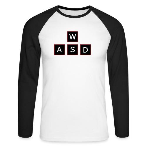 aswd design - Mannen baseballshirt lange mouw