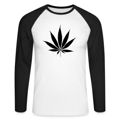 Weedblatt - Men's Long Sleeve Baseball T-Shirt