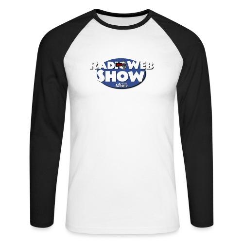 Logo RadioWebShow - Maglia da baseball a manica lunga da uomo