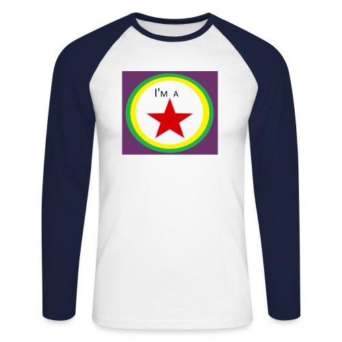 I'm a STAR! - Men's Long Sleeve Baseball T-Shirt